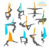 Anti-gravity yoga for women Royalty Free Stock Photography