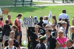 Anti--hat samlar Boston 2017 royaltyfri bild