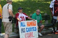 Anti-Hate Rally Boston 2017 Royalty Free Stock Photo