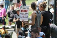 Anti-Hate Rally Boston 2017 Royalty Free Stock Image