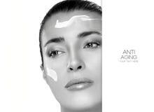 Anti het Verouderen en Schoonheidsconcept Kuuroord - 7 malplaatjeontwerp Stock Afbeelding