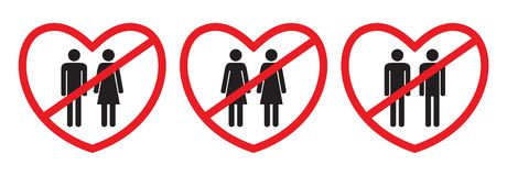 Anti-homosexual and anti-heterosexual icons stock illustration