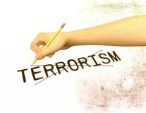 Anti illustration de terrorisme Image stock