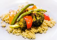 Anti-inflammatory pan with chicken and vegetables Royalty Free Stock Photography