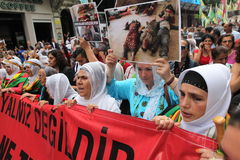 Anti-İsil Protest in Turkey. Stock Photography
