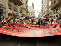 Anti-İsil Protest in Turkey. Royalty Free Stock Image