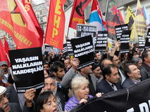 Anti-İsil Protest in Turkey. Royalty Free Stock Photos