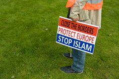 Anti islam protest Stock Image
