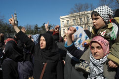 Anti Israel Demonstration Stock Image