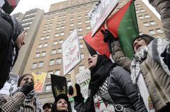 Anti-Israel occupation of Gaza Rally. Royalty Free Stock Images