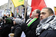 Anti-Israel occupation of Gaza Rally. stock photography