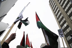 Anti-Israel occupation of Gaza Rally. Royalty Free Stock Image