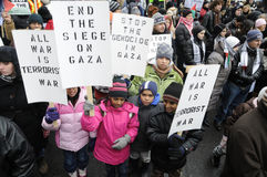 Anti-Israel occupation of Gaza Rally. Stock Photo