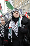 Anti-Israel occupation of Gaza Rally. Stock Photos