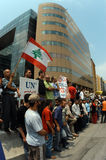 Anti-Israel Protest in Beirut Lizenzfreie Stockfotos