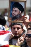 Anti-Israel protest i Beirut fotografering för bildbyråer