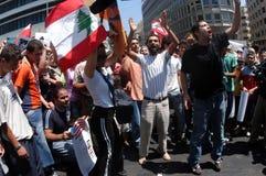Anti-Israel protest i Beirut Royaltyfria Foton