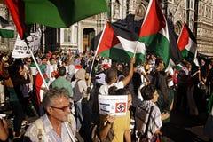 Anti-Israeli Protest to End Gaza Military Strike Stock Photos