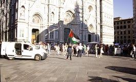 Anti-israelischer Protest, zum von Gaza-Militärschlag zu beenden Lizenzfreies Stockbild