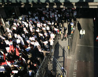 anti israelisk london protest Royaltyfri Foto