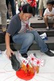 Anti Japan Protests in Hong Kong Stock Images
