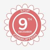 Anti jour international de corruption Image stock