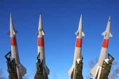 anti komplicerad missil för flygplan Arkivbilder
