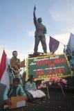 Anti--korruption demonstration i indonesia Arkivfoto