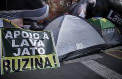Anti--korruption protest Brasilien Royaltyfria Foton