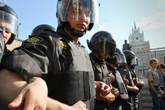 Anti-kremlin protest in Moscow Stock Images