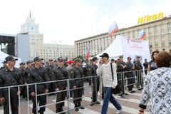 Anti-Kremlin-Protest in Moskau lizenzfreie stockbilder