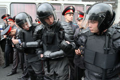 Anti-Kremlin rally in Moscow Stock Photo