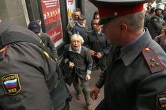 Anti-Kremlin rally in Moscow Royalty Free Stock Photos