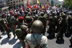 Anti--krig protest i Beirut royaltyfri foto