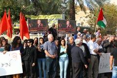 Anti kriga demonstrationen som stöttar Gaza i Nazareth Arkivfoton