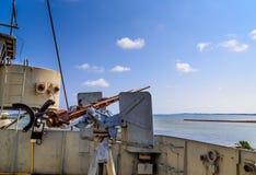 Anti-krigskepp - luftpistol Arkivfoto