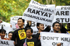 Anti-lynas. Residents and anti-Lynas groups are making a concerted effort to stop the RM700 million rare earth plant in Gebeng, Pahang.Demostration Stop Lynas! Royalty Free Stock Photos