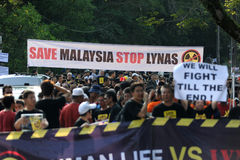 Anti-lynas. Residents and anti-Lynas groups are making a concerted effort to stop the RM700 million rare earth plant in Gebeng, Pahang.Demostration Stop Lynas! Stock Photography