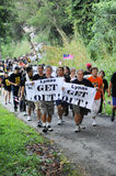 Anti-lynas. Residents and anti-Lynas groups are making a concerted effort to stop the RM700 million rare earth plant in Gebeng, Pahang.Demostration Stop Lynas! Stock Image