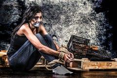 Anti-människohandel arkivbild