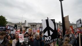 Anti marcha de protesto do trunfo - Londres filme