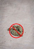 Anti-medicinsk marijuana Arkivfoto