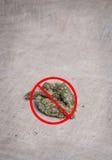 Anti Medische Marihuana Stock Foto