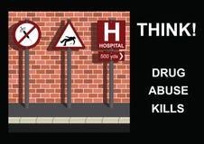 Anti mensagem da droga ilustração do vetor