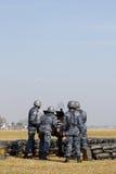 Anti mitrailleuse lourde d'incendie d'aéronefs Photographie stock libre de droits