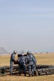 Anti mitrailleuse lourde d'incendie d'aéronefs Image stock
