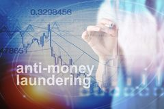 Anti Money Laundering Concept & x28;AML& x29;. Anti Money Laundering Concept image of Business Acronym AML & x28;Anti Money Laundering& x29 Stock Photography