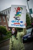 Anti-Monsanto Protest Royalty Free Stock Photos