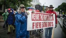 Anti-Monsanto Protest Stock Photography