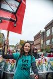 Anti-Monsanto protestation Images stock